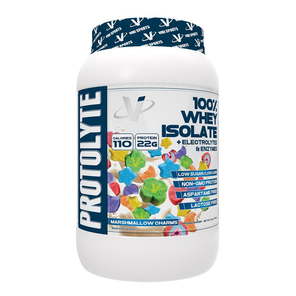 VMI Protolyte 100% Whey Isolate Protein 25 Servings Protein Powders VMI Sports Marshmallow Charms  (4362729259073)