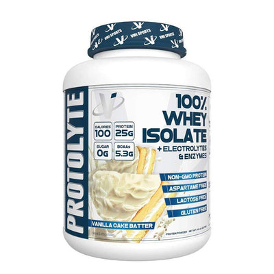 VMI Protolyte 100% Whey Protein Isolate 70 Servings Protein Powders VMI Sports Vanilla Cake Batter  (4362729521217)