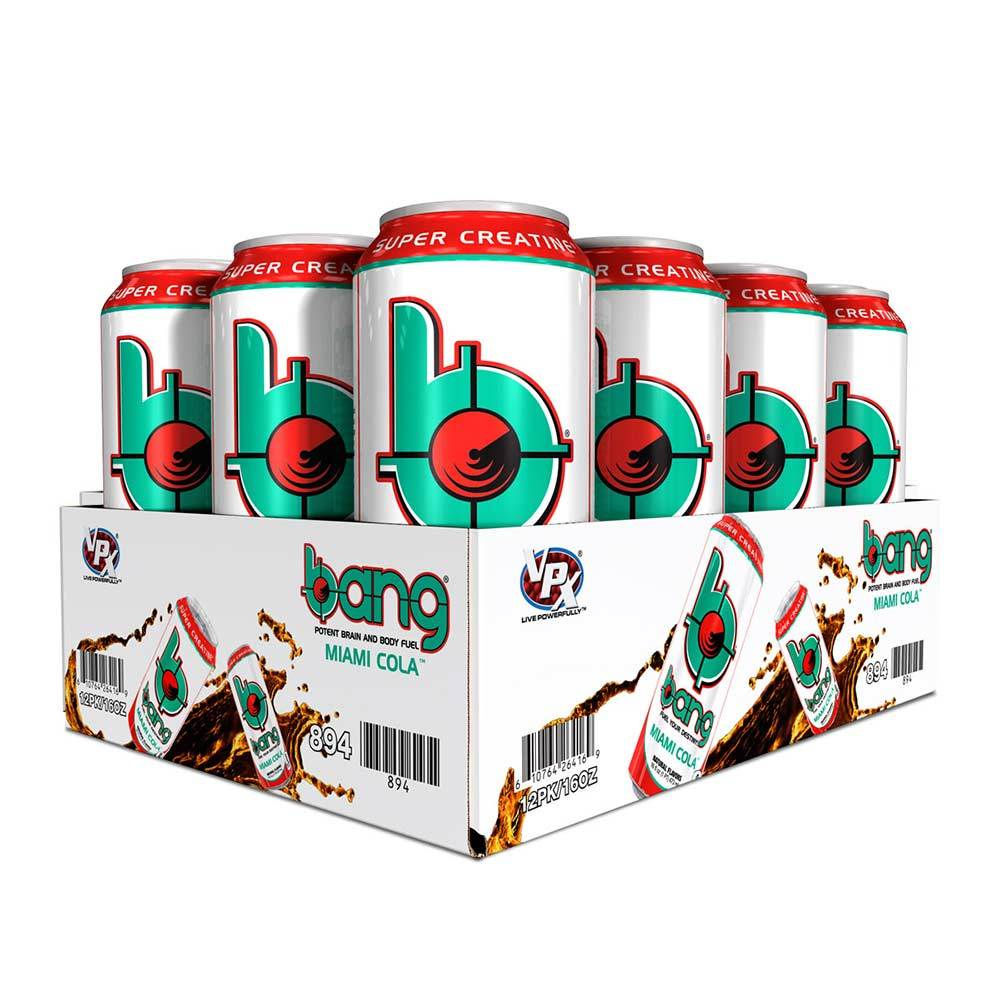 VPX Bang RTD 12/Case Diet/Energy VPX Miami Cola  (1058943205419)