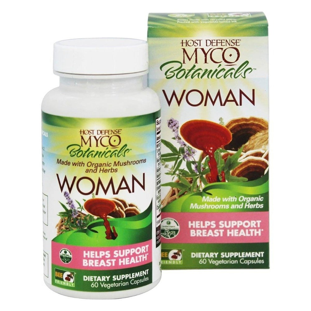 Fungi Perfect Host Defense MycoBotanicals Woman 60 Vege Caps Herbs Fungi Perfect  (1059231367211)