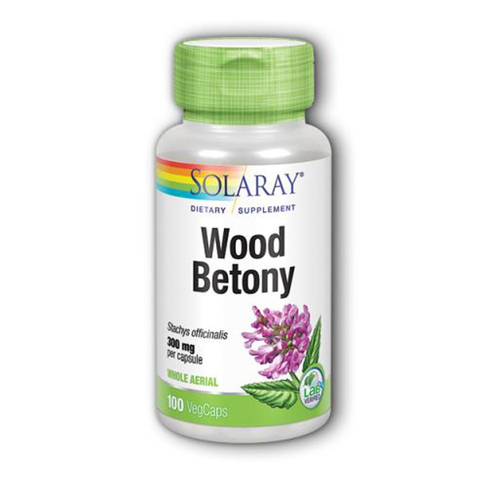 Solaray Wood Betony 300mg 100 Capsules Specialty Health Products Solaray  (1806087946283)