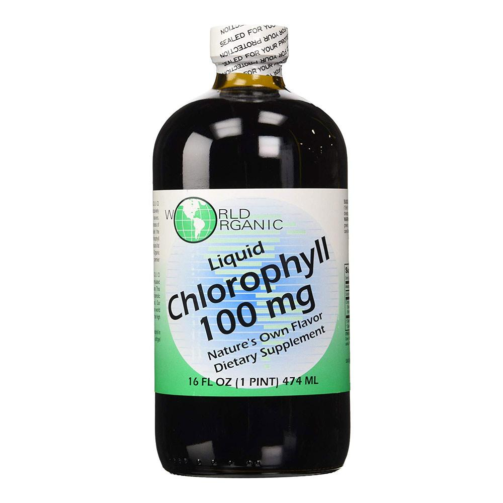 World Organics Liquid Chlorophyll 100MG 16OZ Specialty Health Products World Organics  (1758671929387)