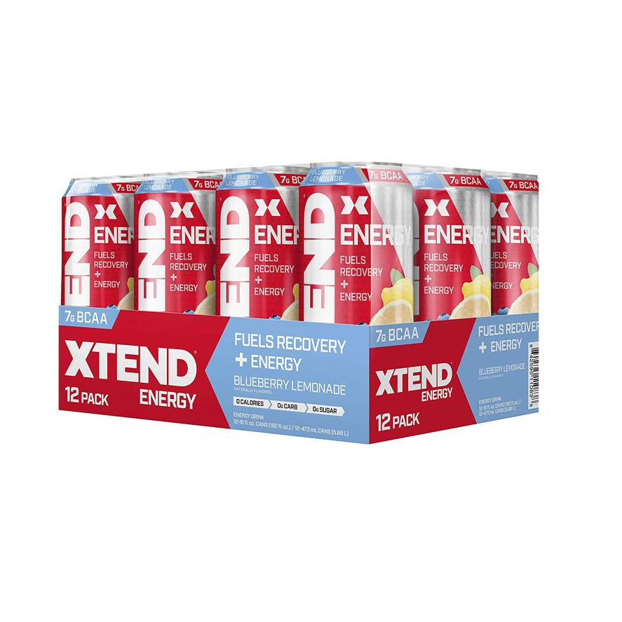 Xtend Energy Carbonated RTD 12/Cans Drinks Scivation Blueberry Lemonade  (4358724321345)
