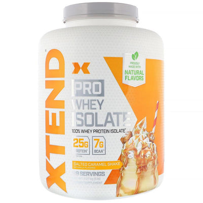 Xtend (Formerly Scivation) Pro Whey Isolate 5lb Protein Powders Scivation Salted Caramel Shake  (4330982899777)