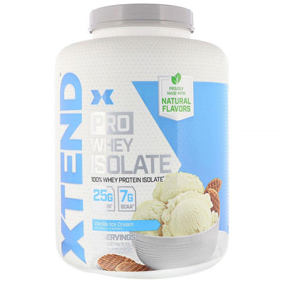 Xtend (Formerly Scivation) Pro Whey Isolate 5lb Protein Powders Scivation Vanilla Ice Cream  (4330982899777)