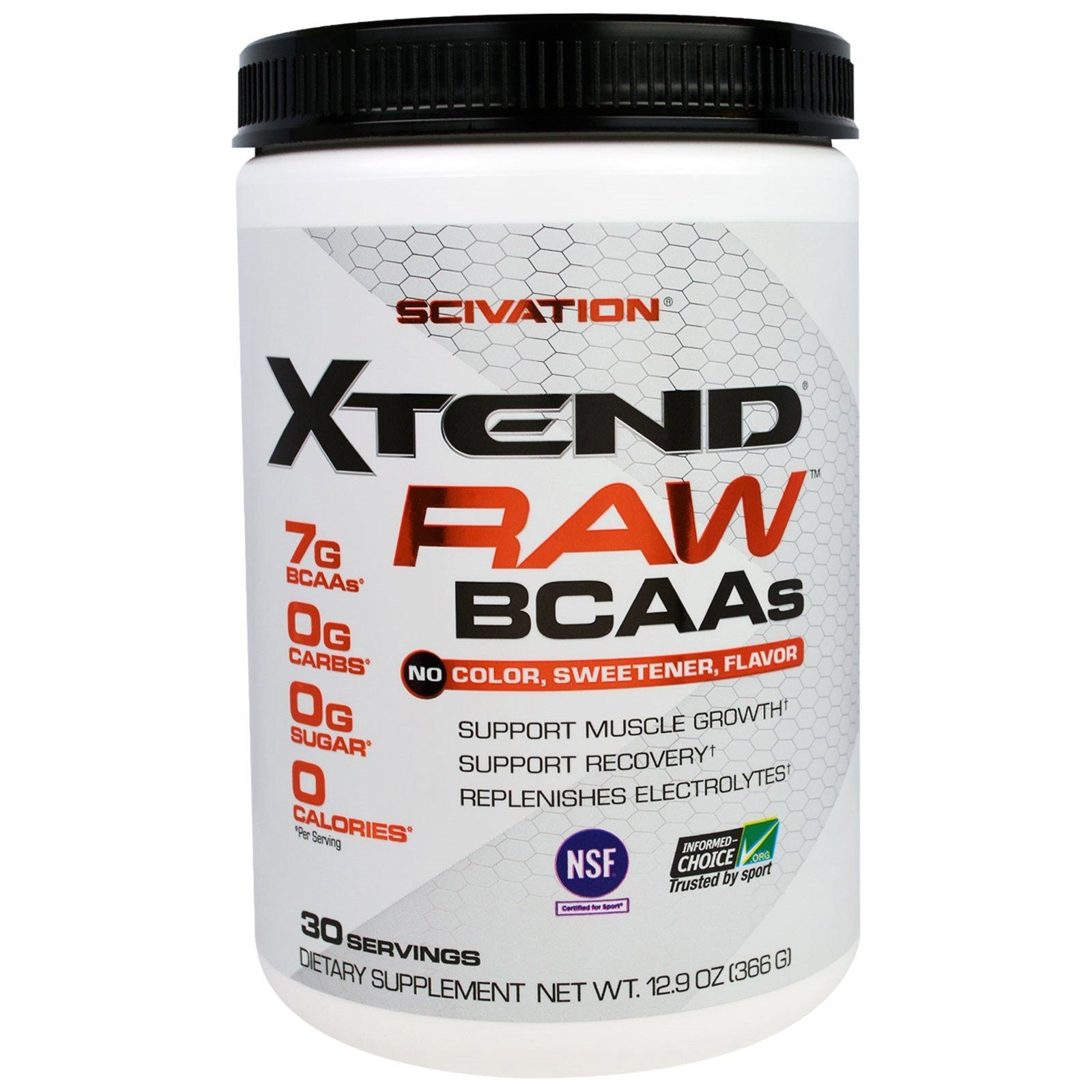 Scivation Xtend Raw Unflavored 30 Servings Amino Acids Scivation  (1197923336235)