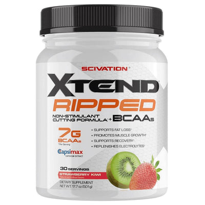 Scivation Xtend Ripped 30 Servings Amino Acids Scivation Strawberry Kiwi  (1197918126123)