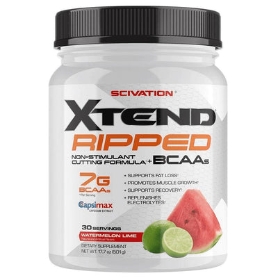 Scivation Xtend Ripped 30 Servings Amino Acids Scivation Watermelon Lime  (1197918126123)