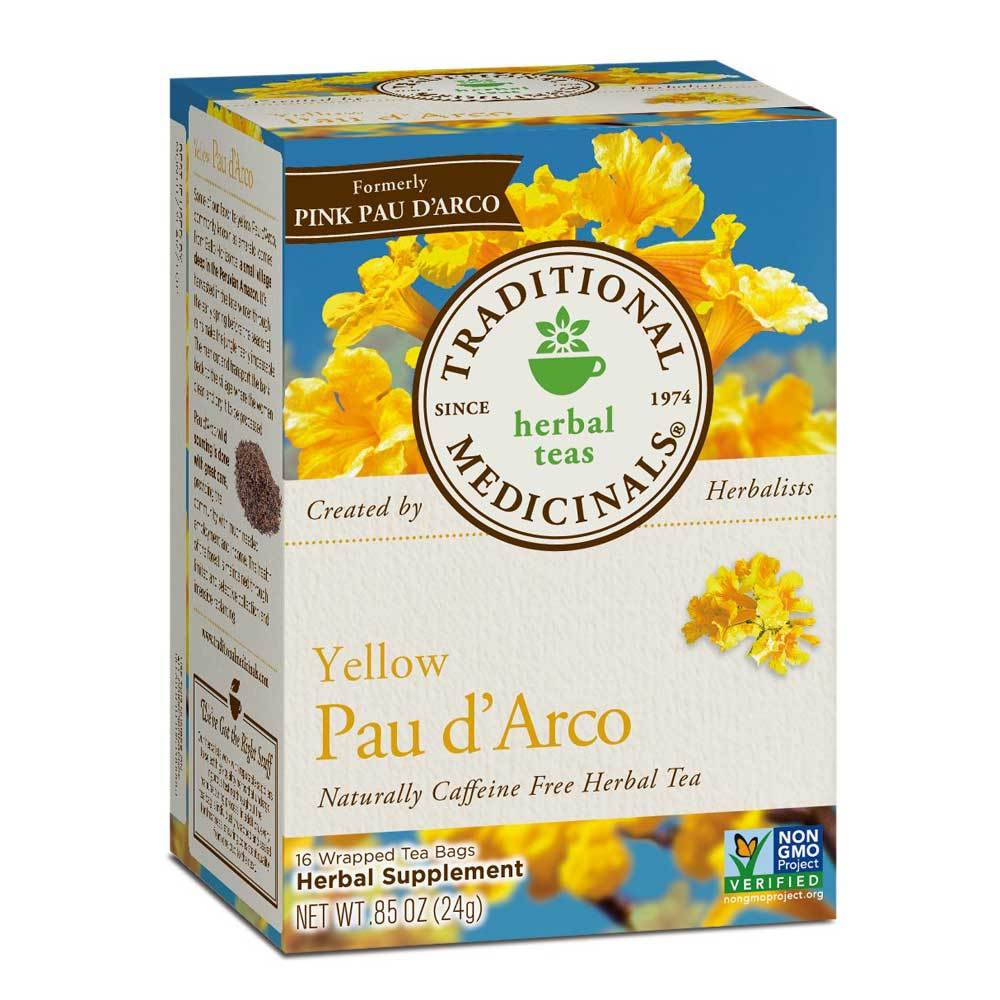 Traditional Medicinals Yellow Pau d' Arco Tea 16 Bags Teas Traditional Medicinals  (1780164853803)