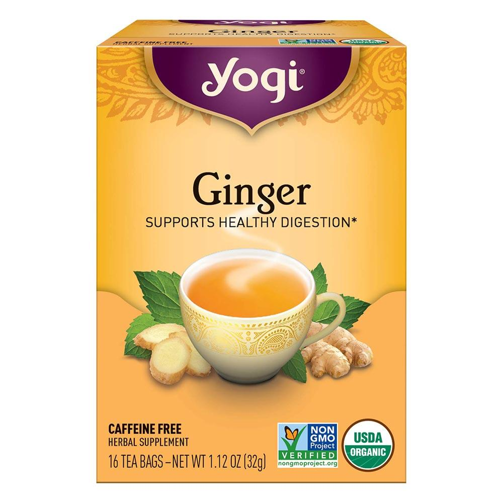 Yogi Ginger Tea 16 Bags Teas Yogi