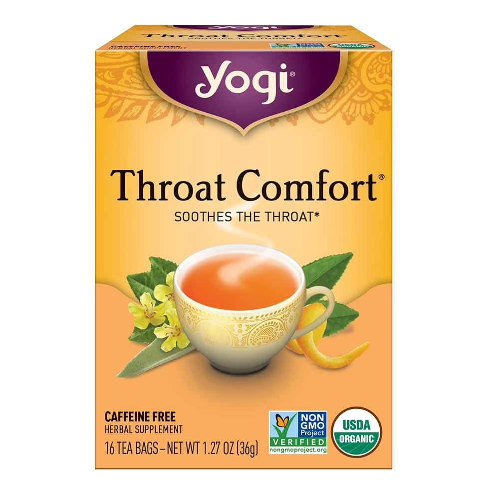 Yogi Throat Comfort 16 Bags Teas Yogi