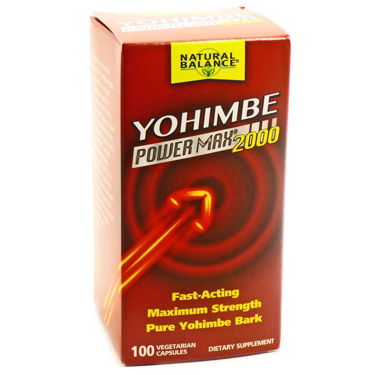 Natural Balance Yohimbe Power Max 2000mg 100 Vege Caps Herbs Natural Balance  (1057911799851)