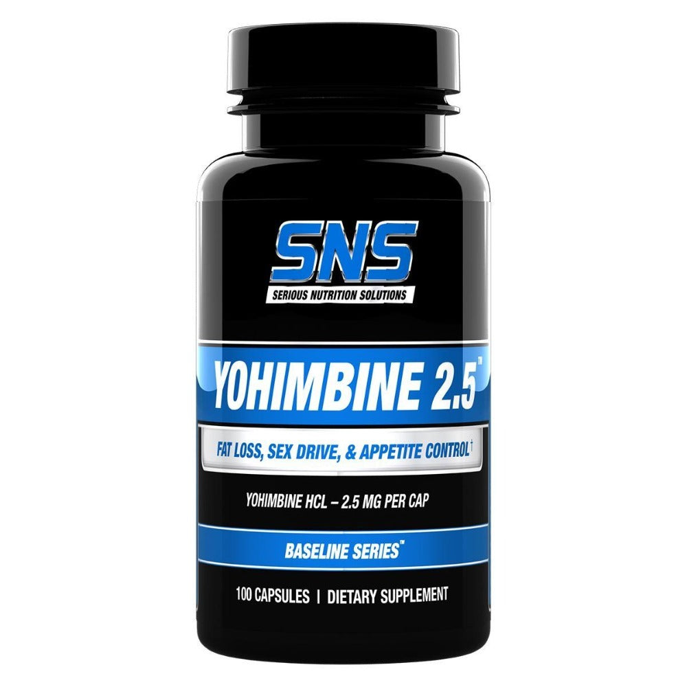 Serious Nutrition Solutions Yohimbine HCL 2.5mg 100 Caps Diet/Energy Serious Nutrition Solutions  (1058664054827)