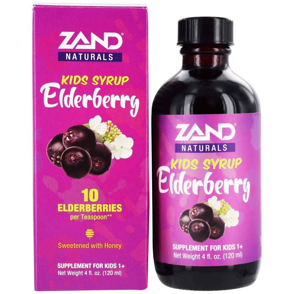 Zand Elderberry Honey Syrup Kids 4oz Specialty Health Products Zand  (4422977060929)