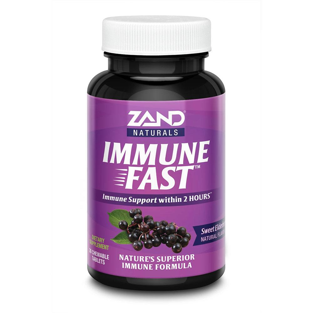 Zand Immune Fast Elderberry 30 Chewable Tablets Herbs Zand  (4594717687873)