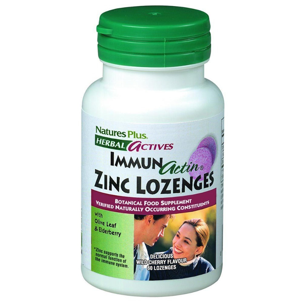 Nature's Plus Immun-Actin Zinc Lozenges 60 Lozenges Minerals Nature's Plus  (1057992998955)