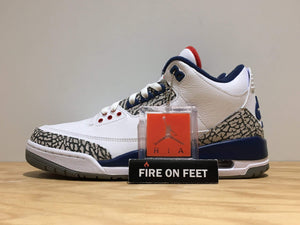 Nike Air Jordan 3 Retro True Blue (2016)-Fireonfeet