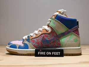 "Thomas Campbell x Nike SB Dunk High ""What The""-Fireonfeet"