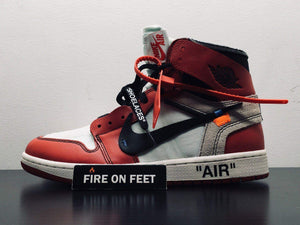 "Virgil Abloh x Off White x Nike Air Jordan 1 ""The Ten""-Fireonfeet"