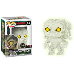 Funko Pop 8 Bit Predator Glow In The Dark Chase Gamestop Exclusive
