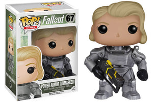 Funko Pop Games Fallout Power Armor Unmasked Gamestop Exclusive