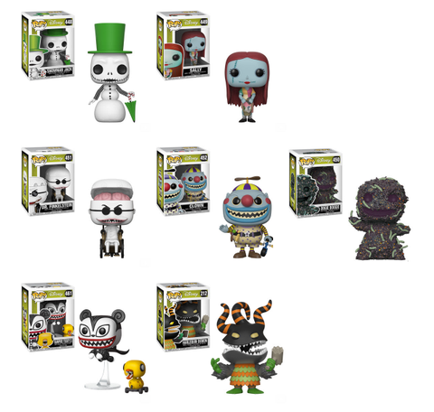 Funko Pop Disney Nightmare before christmas set of 7