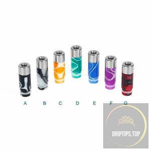 510 Stainless Steel + Acrylic Drip Tips
