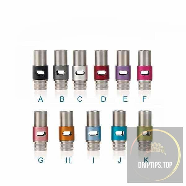 Adjustable Airflow 510 Drip Tips With Double O Rings (Ss+Alu )