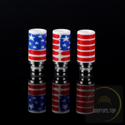American Flag Pattern Ceramic Drip Tips 510