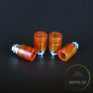 Art Glass With Stainless Steel Base 510 Drip Tips