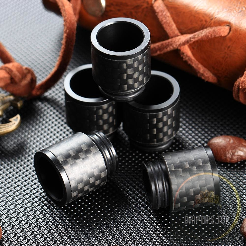 Carbon Fiber 810 Drip Tips For Smok Tfv8 / Tfv12 ( Dual O Rings )