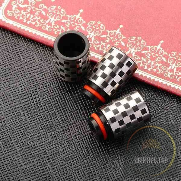 Checker Texture Stainless Steel 510 Drip Tips