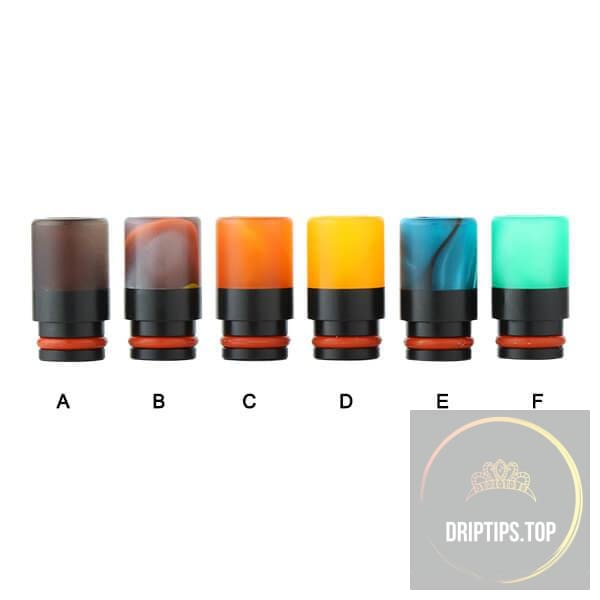 Colorful Acrylic With Pom 510 Drip Tips -Long