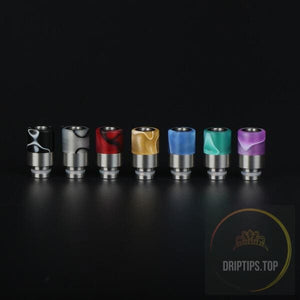 Colorful Acrylic With Ss Base Insert 510 Drip Tips-Long