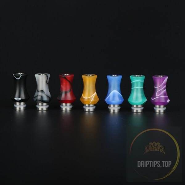 Colorful Acrylic With Ss Base Vase Shape 510 Drip Tips