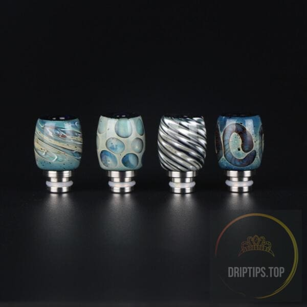 Colorful Art Glass With Ss Base Drip Tips