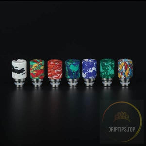 Colorful Ceramic With Ss Base 510 Drip Tips