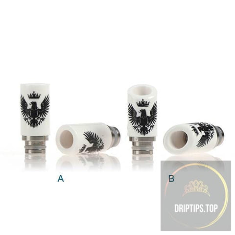 Eagle Pattern Ceramic 510 Drip Tips