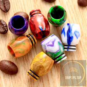 Epoxy Resin 510 Drip Tips Dual O Rings