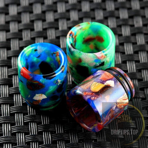 Epoxy Resin Floral 810 Drip Tips For Tfv8/tfv12 (Double O Rings)