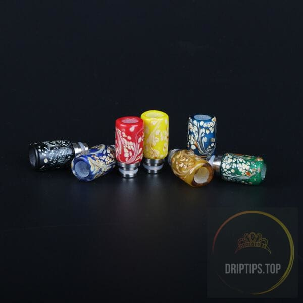 Flower Spot Jade Stone 510 Drip Tips
