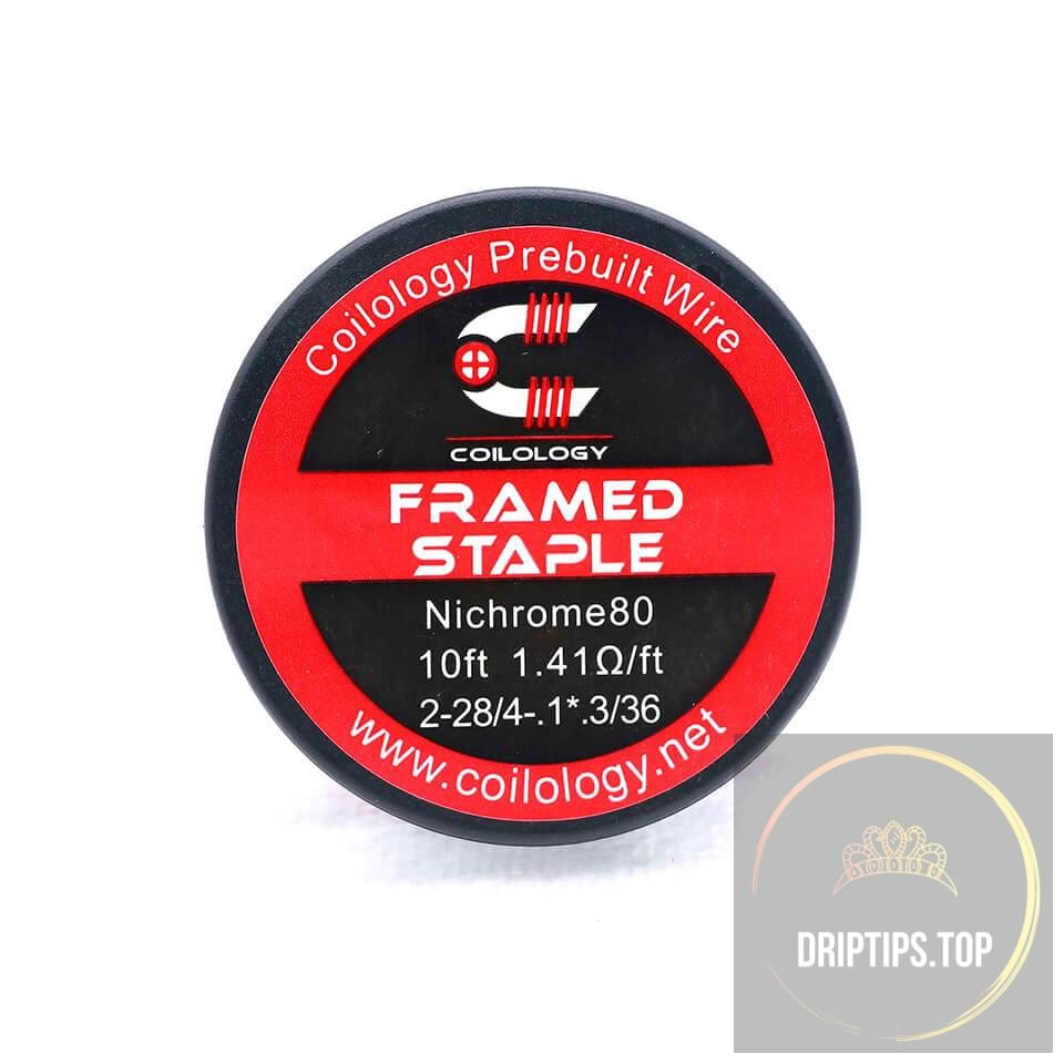 Framed Staple - Coilology Spooled Wire 2-28/4-.1*.3/36 Nichrome80 1.41 Ohm/ft 10 Ft Per Roll
