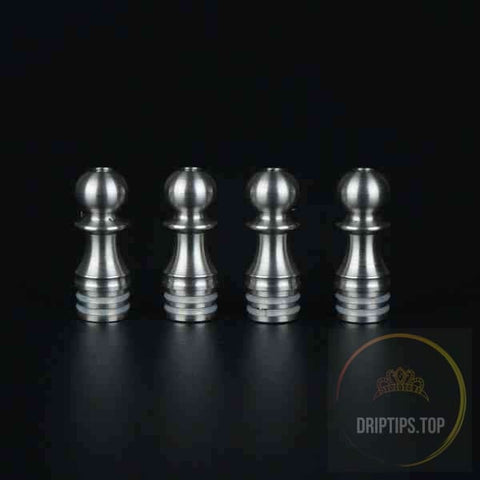 Polished Stainless Steel 510 Drip Tips With 2 O Rings