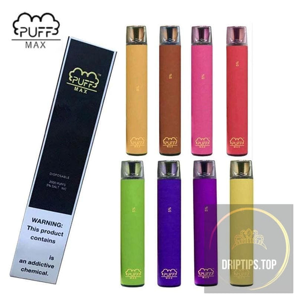 Puff Bar Max 2000 Puffs 5% Nicotine Salt Disposable Vape 1 box (10 units) -China Factory Wholesale