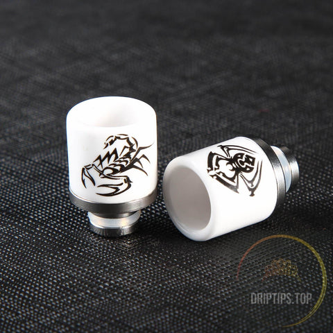 Spider / Scorpion Pattern 510 Ceramic+ Ss Drip Tips