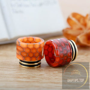 Ss Gilding+Epoxy Resin Snake Pattern 810 Drip Tips For Tfv8 / Tfv12 (Dual O Rings)