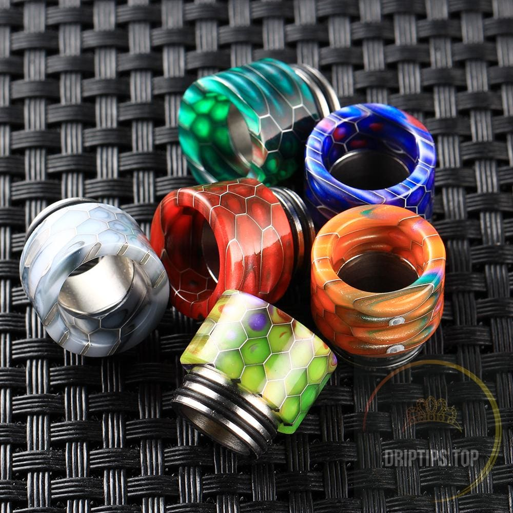 Ss Gilding+Epoxy Resin Snake Pattern 810 Drip Tips For Tfv8/tfv12