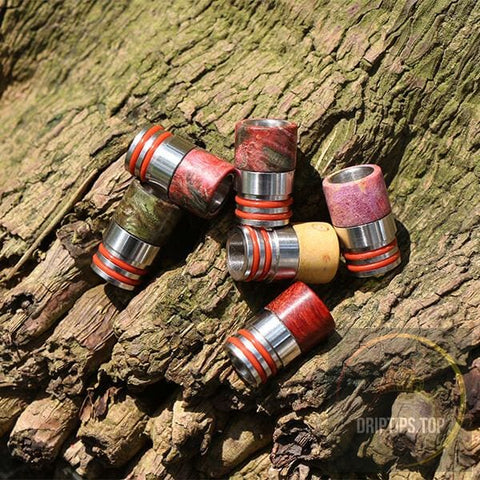 Stabilized Wood Drip Tips With Double O Rings