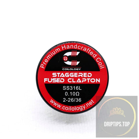 Staggered Fused Clapton - Coilology Handcrafted Coils 2-26/36 Ss316L 0.1 Ohm