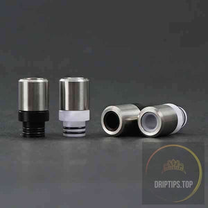 Stainless Steel With Delrin 510 Drip Tips (2 O Rings)